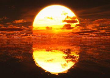 Coucher de soleil sur la mer sur Max Steinwald