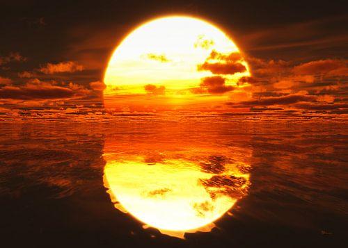 Sonnenuntergang über dem Meer von