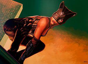Halle Berry als Catwoman Schilderij