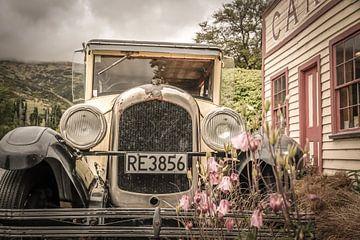 Oldtimer bij Cardrona Hotel, Nieuw-Zeeland van Christian Müringer