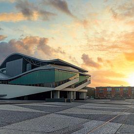Sonnenaufgang auf dem Chasséveld, Breda von Martijn Mureau