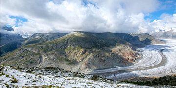 Aletschgletscher in der Schweiz in den Bergen von Lidewij Olive