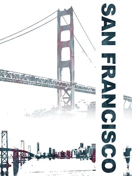 San Francisco van Printed Artings