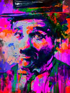 Charlie Chaplin Pop Art PUR