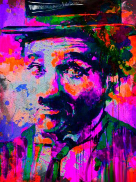Charlie Chaplin Pop Art PUR van Felix von Altersheim