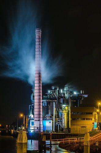 Fabriek bij nacht