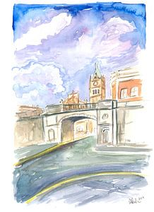Derry Nordirland Straßenszene mit Shipquay Gate von Markus Bleichner