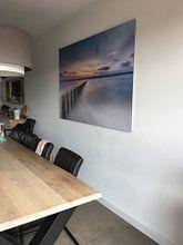 Klantfoto: Palen in de Noordzee van Niels Barto, op aluminium