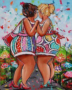 Freundinnen von Vrolijk Schilderij