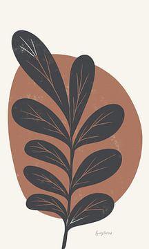 Mid Century Modern III Terracotta Crop, Becky Thorns van Wild Apple
