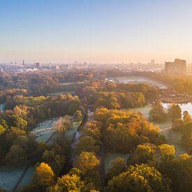 Zonsopkomst boven Stadspark Groningen van Frenk Volt