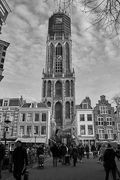 Dom Tower im historischen Stadtzentrum von Utrecht von Ad Jekel