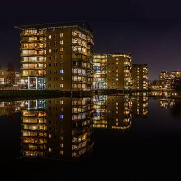 Nachtfoto van project Schiehart in Schiedam van Kok and Kok