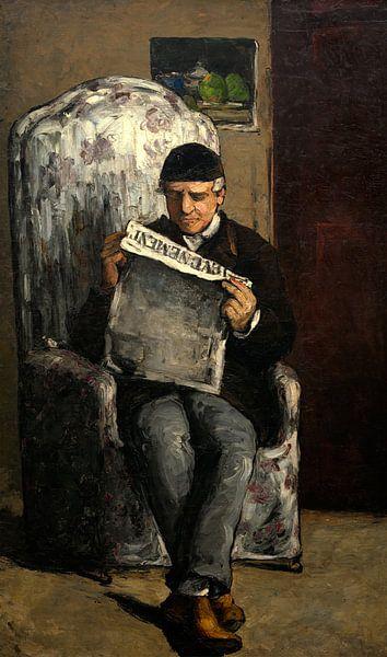 Vader van de Kunstenaar, lezend  L'evenement, Cézanne van Liszt Collection