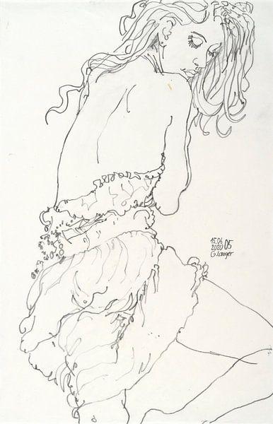 Bildnis einer Frau,  Leicht bekleidet, Sinnlich, Gefunden von Gunter Langer