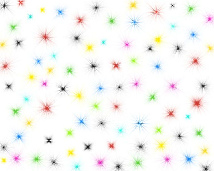 bunte Sterne van Augenblicke im Bild