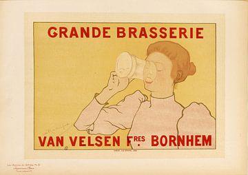 Plakat Brasserie, Armand Rassenfosse, 1895 von Atelier Liesjes