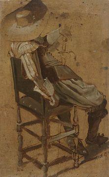 Sitzender Mann mit Schwert, Dirck Hals, 1601 - 1656