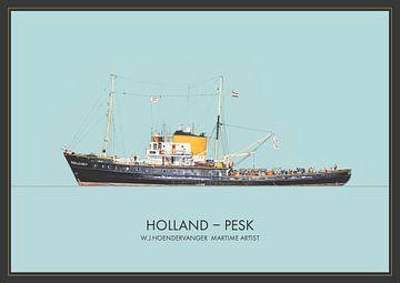 Zeesleepboot Holland PESK van Willem Johan Hoendervanger