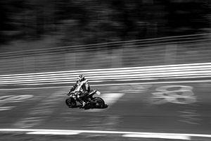 Nürburgring motorfiets Zwart-Wit van