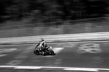 Nürburgring motorfiets Zwart-Wit van Sim Van Gyseghem