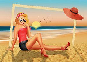 Groeten van de vakantie uit de jaren '50 van