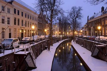 Nieuwegracht in Utrecht tussen Paulusbrug en Pausdambrug sur