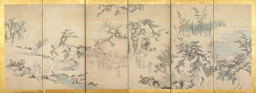 Maruyama Okyo - Literaturveranstaltung im Orchideenpavillon von 1000 Schilderijen