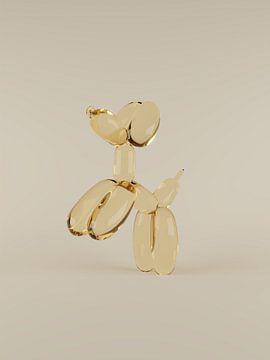 Goldene Luftballons Hund von Tom IJmker