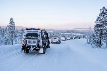 Weg naar het White Hell Racecircuit // Saariselkä, Finland van PHOTORIK