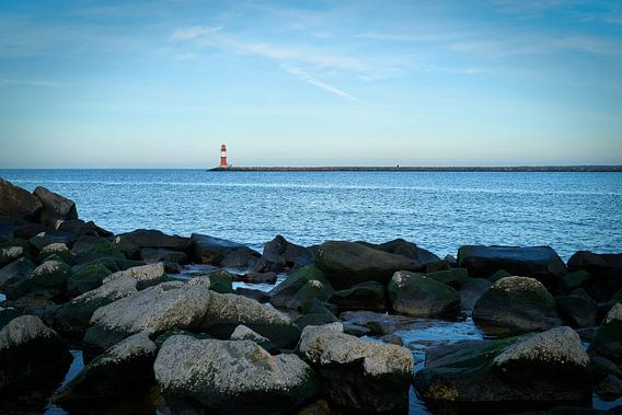 Kust van de Oostzee bij Warnemünde aan de Duitse Oostzee