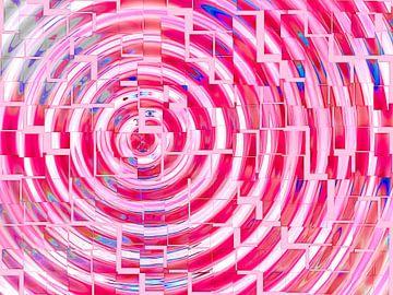 Square Dance (Pink) van Caroline Lichthart