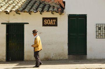 Vintage  straatbeeld  in  Villa  de  Leyva