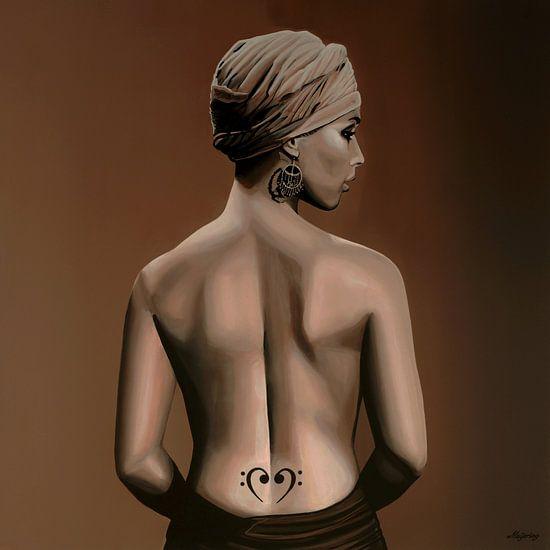 Alicia Keys schilderij van Paul Meijering
