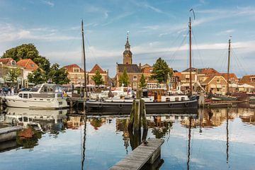 De haven in Blokzijl. van Benny van de Werfhorst