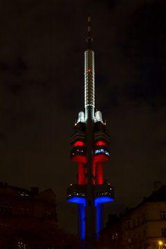 Zizkov toren in Praag van Hans Vos Fotografie
