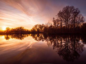 Sunsetreflection sur Niels Vanhee