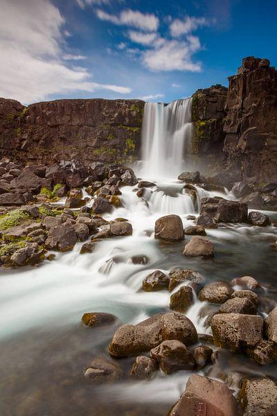 Oxararfoss waterfall Iceland sur Menno Schaefer