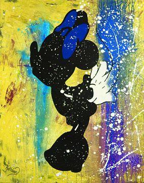"Minnie Mouse ""Kus"" van Kathleen Artist Fine Art"