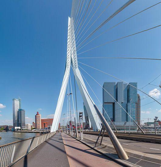 De Erasmusbrug, moderne architectuur Kop van Zuid, Rotterdam, Zuid-Holland, Nederland