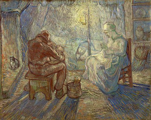 Vincent van Gogh. nacht (naar Millet) van 1000 Schilderijen