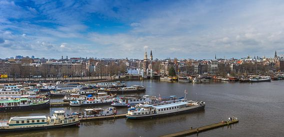 Amsterdam vanaf boven. van Hamperium Photography