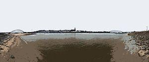 Nijmegen tussen twee bruggen van