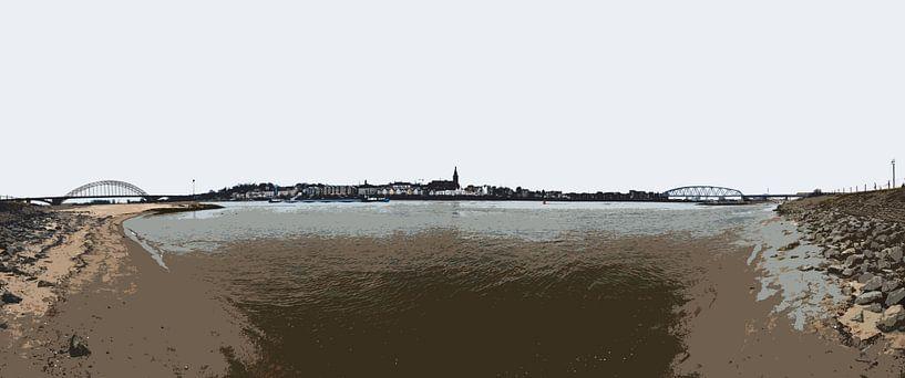 Nijmegen tussen twee bruggen van Maerten Prins