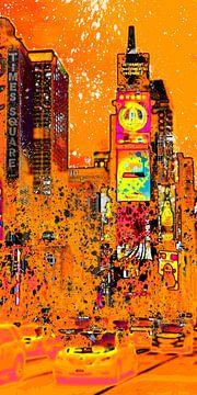 Digital-Art NYC Times Square III van Melanie Viola