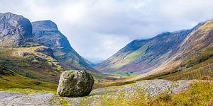De pas naar Glencoe in de Schotse highlands van