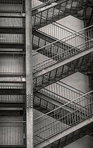 trappen fotoposter of  wanddecoratie abstract van Edwin Hunter