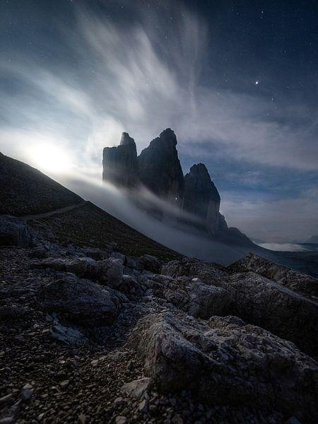 Mondschein in den Dolomiten von Thomas Weber