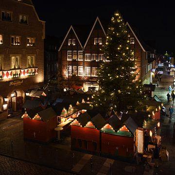 Münster, Kiepenkerl, kleiner Weihnachtsmarkt, Weihnachtsstimmung. von wunderbare Erde