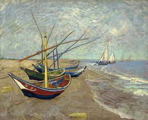 Vincent van Gogh. Vissersboten op het strand van Les Saintes-Maries-de-la-Mer, 1888